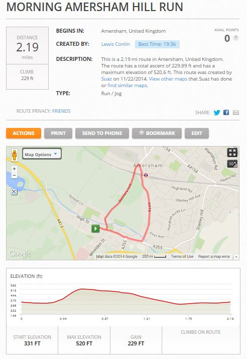 Morning Amersham Hill Run in Amersham, United Kingdom  MapMyRun - Google Chrome_2014-11-22_10-00-02